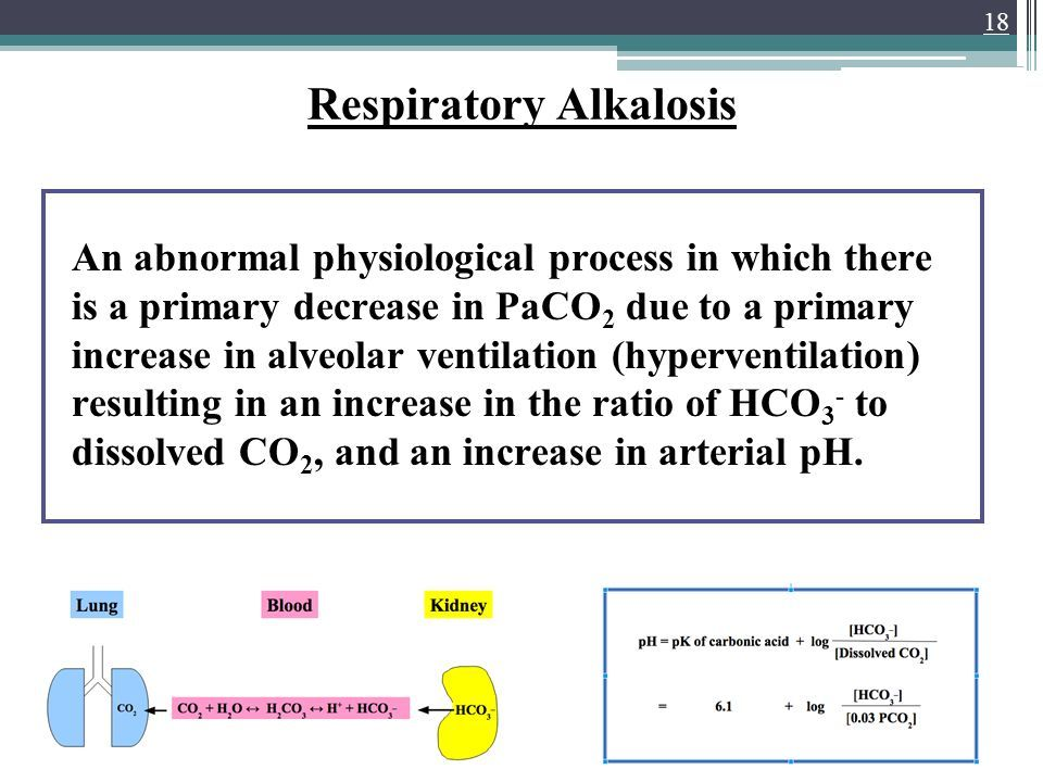 Image result for hyperventilation respiratory alkalosis