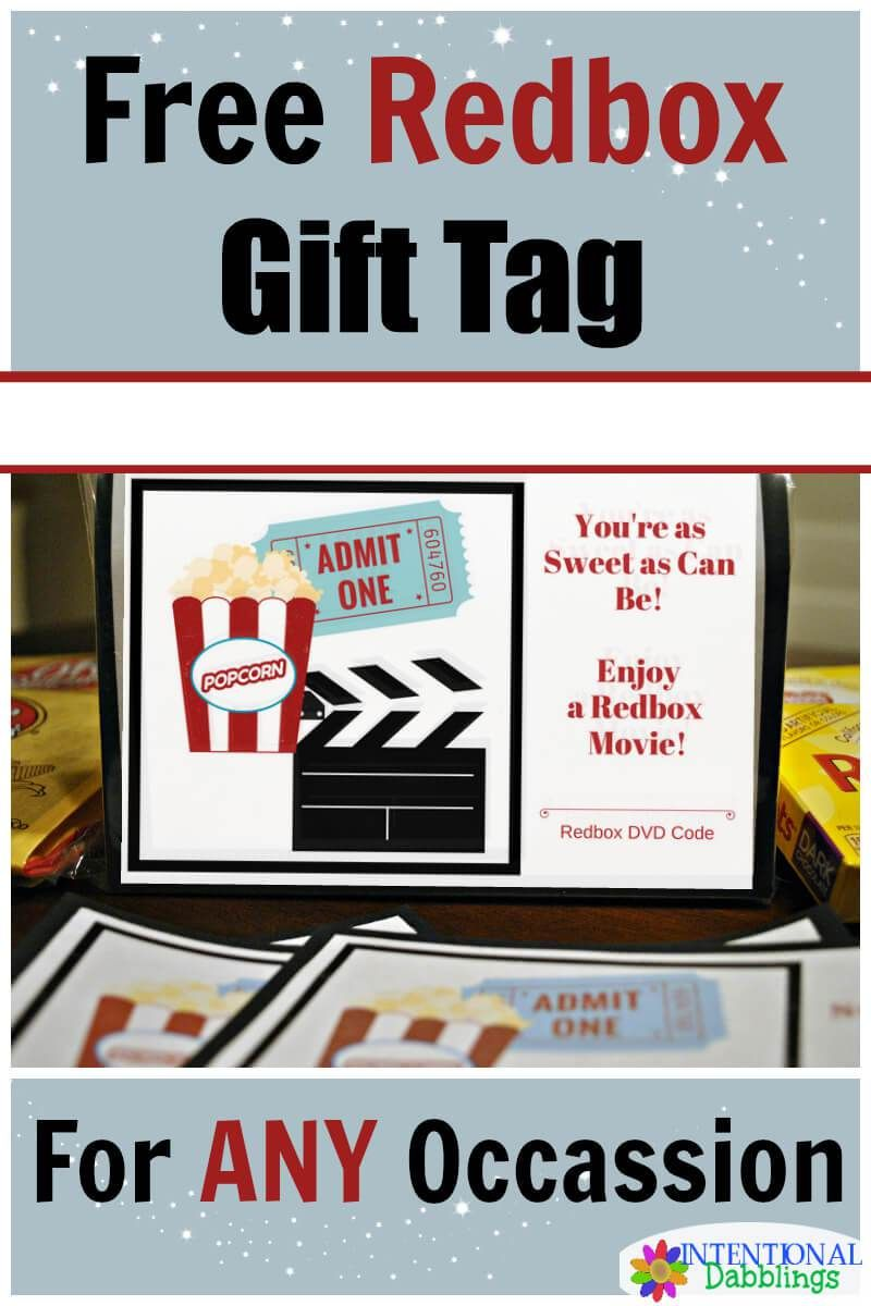 Free redbox gift tag for all occassions with images
