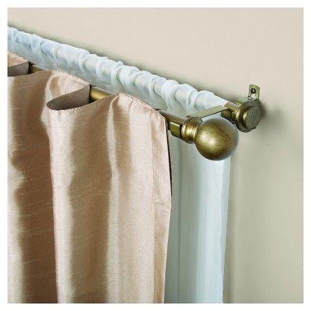 Kenney 5 8 Diameter Decorative Ball Double Curtain Rod Target