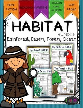 Habitats Bundle {Rainforests, Deserts, Ocean, & Forest