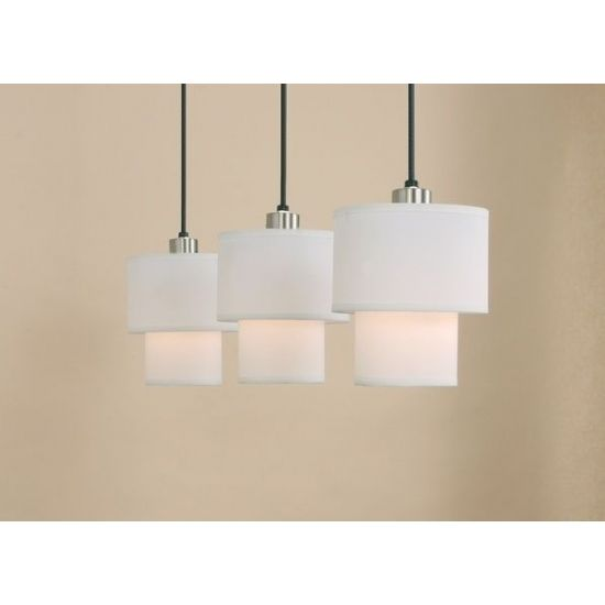 Mini Pendants. Above the sink in the kitchen for a soft glow.