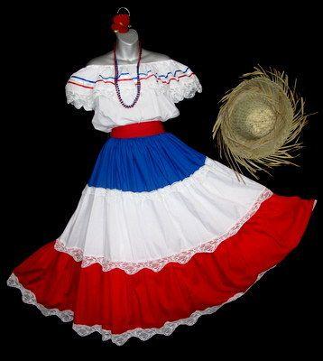 Pin By Gigi Rosa On Traje Tipico Dominicano Folklorico Dresses