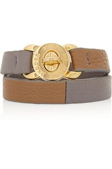 Katie textured-leather wrap bracelet by Marc by Marc Jacobs