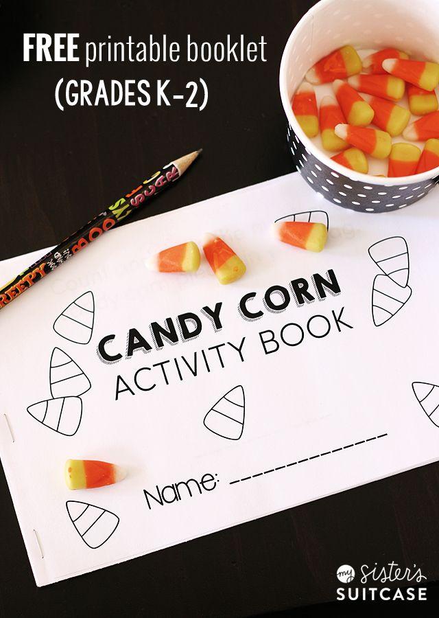 free printable candy corn booklet for grades k 2 halloween - Halloween Printable Book 2