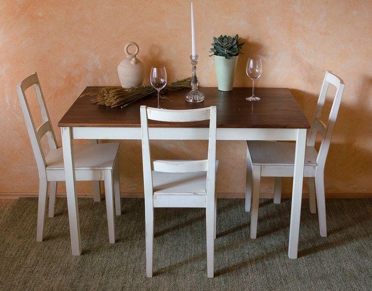 Shabby Chic Esstisch Küchentisch mit 3 Stühlen von Junikumo auf ...