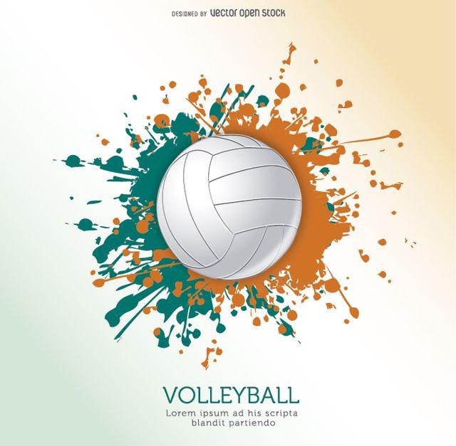 Volleyball Ball Grunge Design Free Vector Volleyball Wallpaper Volleyball Volleyball Designs