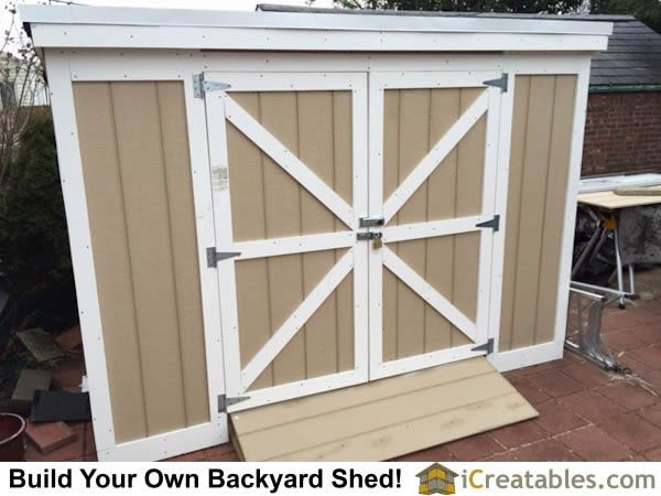 Completed 4x8 Short Lean to backyard storage shed with