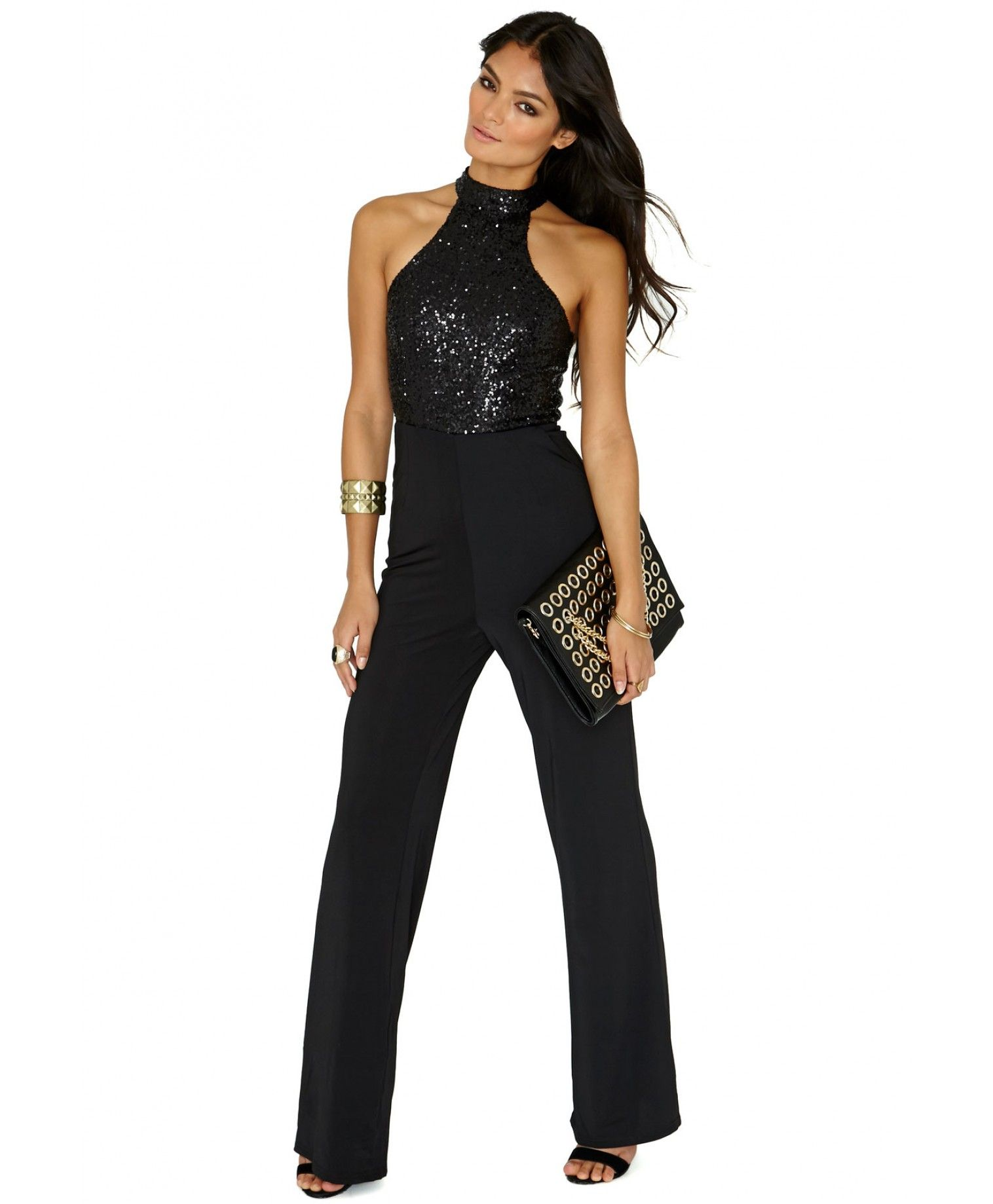 014a976700 Shelley High Neck Sequin Jumpsuit - Jumpsuits   Playsuits - Clothing -  Missguided