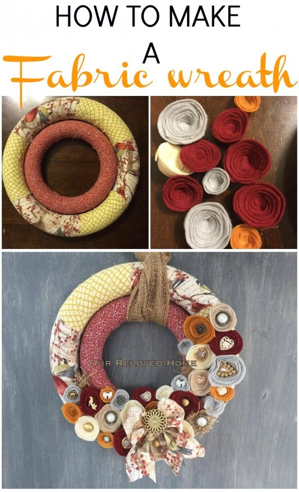 Photo of How to make a fabric wreath