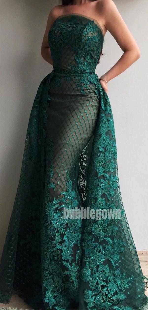 Elegant Applique Lace Mermaid Long Prom Dresses FP1125