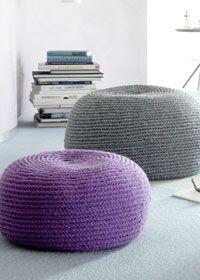 Gehäkelte Sitzpoufs In Zwei Größen Ideen Pinterest Crochet
