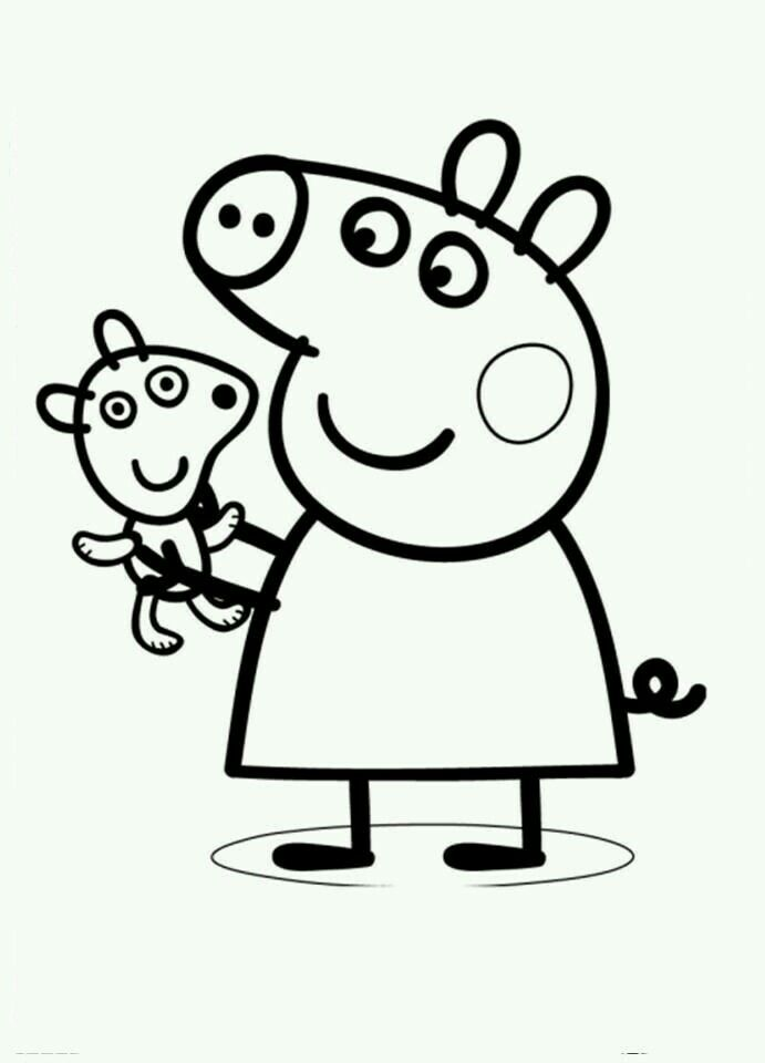 Peppa Pig Peppa Pig Colouring Peppa Pig Coloring Pages