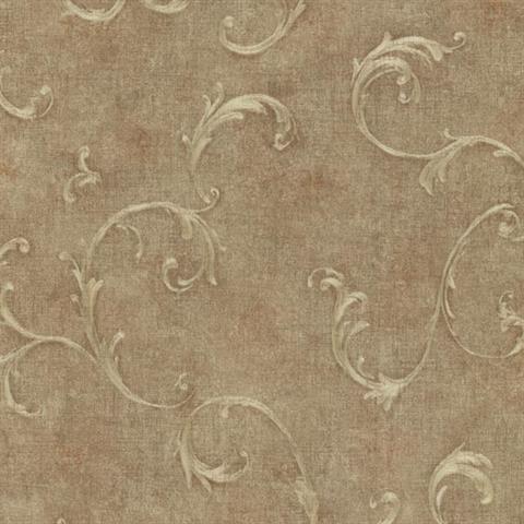 Brass Bayley Scroll  Wallpaper