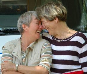Cute Older Lesbian Couple