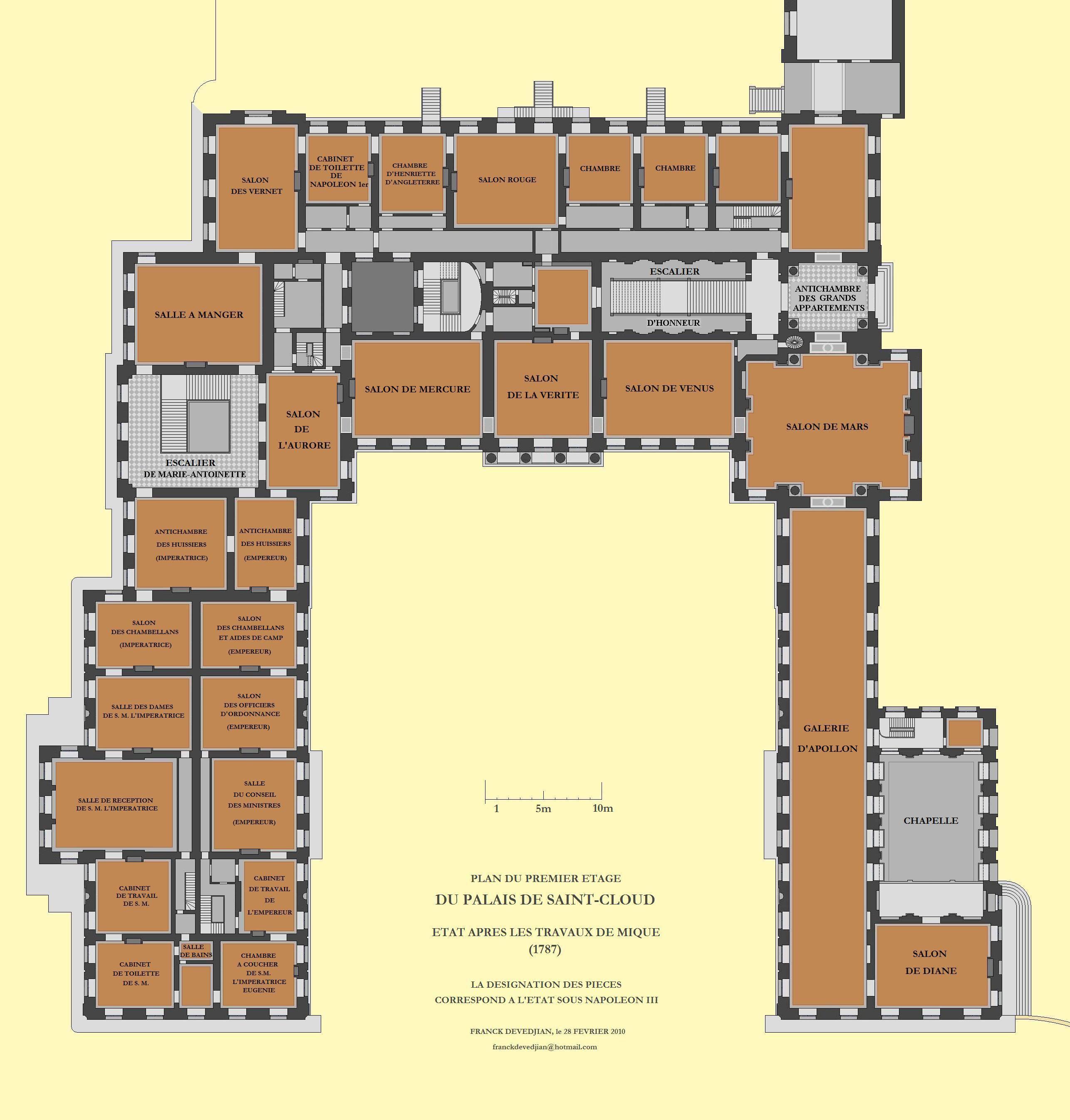 The Main Floor Of The Chateau De St Cloud Saint Cloud Hotel
