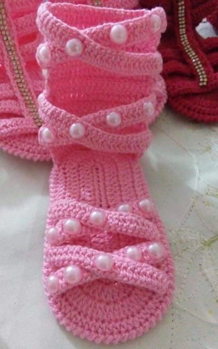 Pin de Graciela Vega en zapatitos tejidos para bebes | Pinterest ...