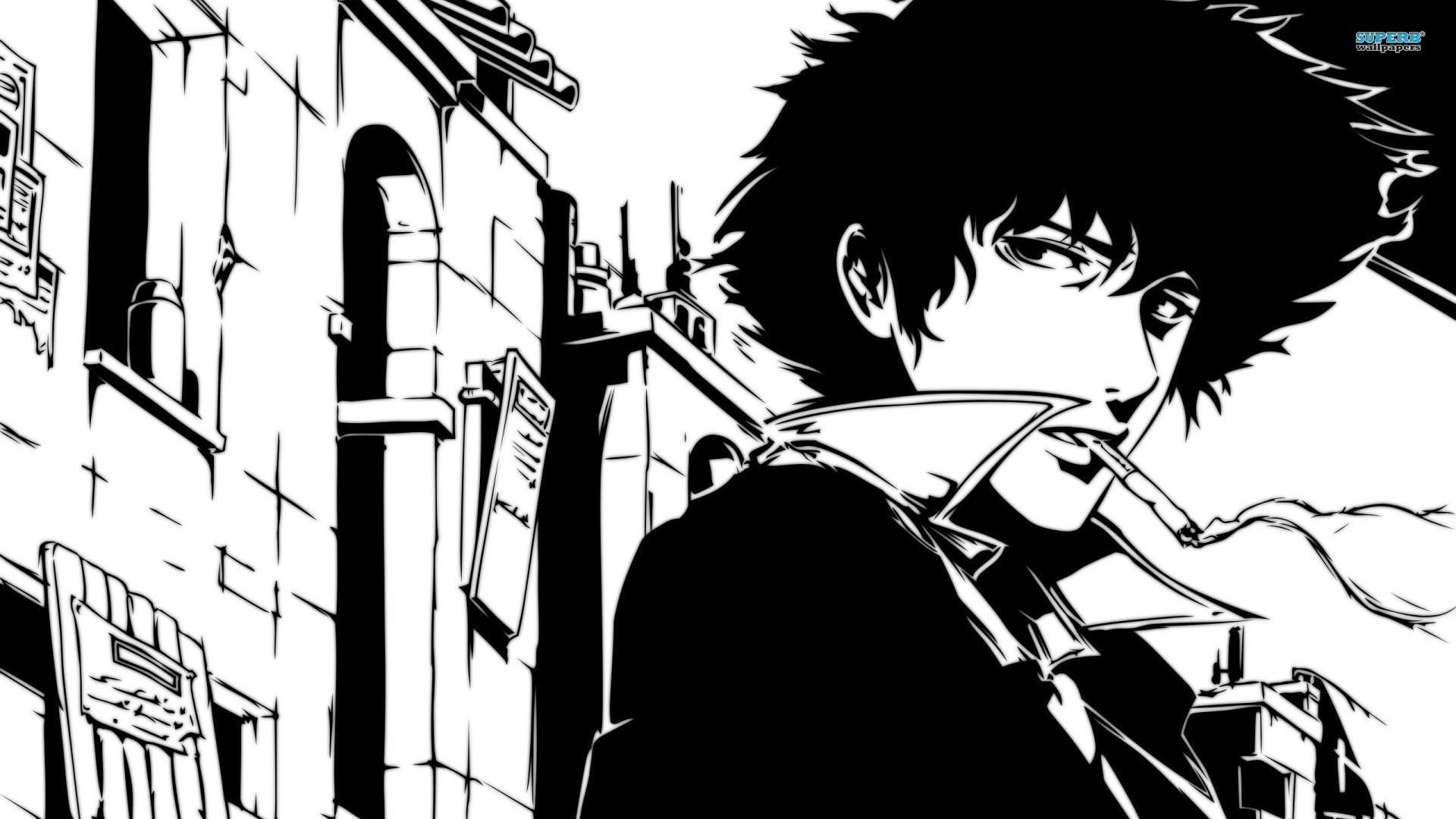 Cowboy Bebop Anime Black And White Spike wallpaper