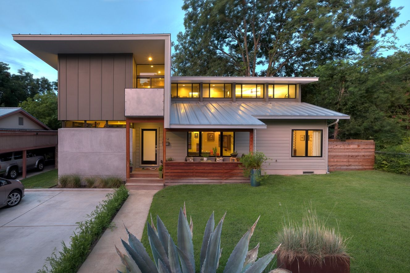 Cool Ranch Style House Additions. A practical and cost effective approach to sustainable home remodeling  this local Austin passive solar house incorporates window orientation unique second story additions Google Search Pinteres