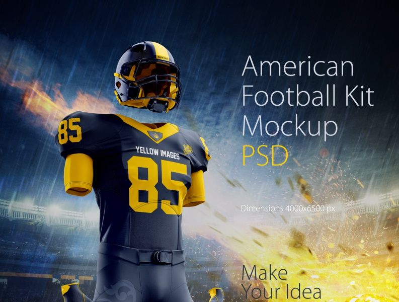 Download American Football Kit Mockup Psd By Object Mockup Football Kits American Football Football