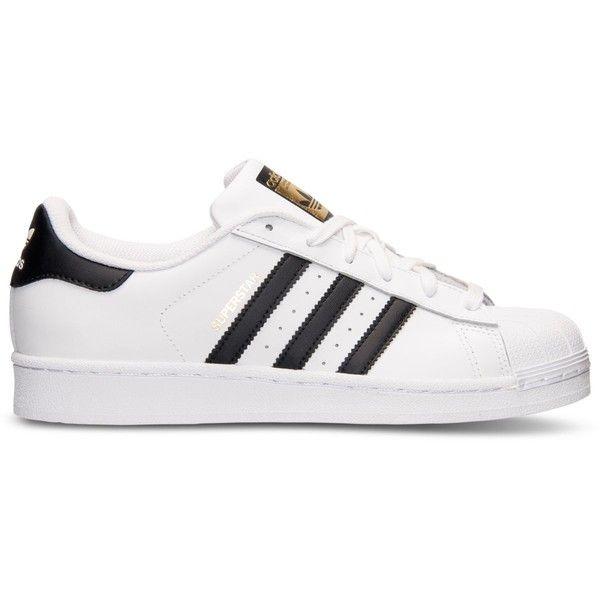 Adidas  mujer 's Superstar casual zapatillas de la línea de meta (305 BRL
