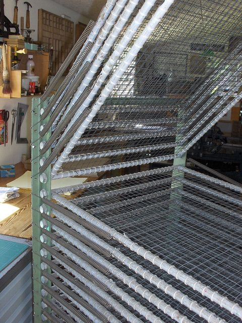 my screen printing drying rack diy