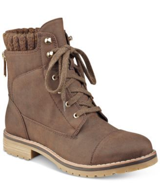 TOMMY HILFIGER Tommy Hilfiger Omar2 Lace-Up Booties. #tommyhilfiger #shoes # all women