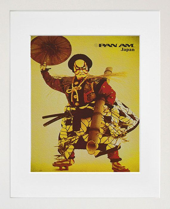 Japan Samurai Travel Print Poster Wall Art (ZT329) | Poster wall and ...