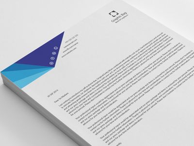 20 Modern Business Letterhead Adobe photoshop, Business and Adobe - professional letterhead format