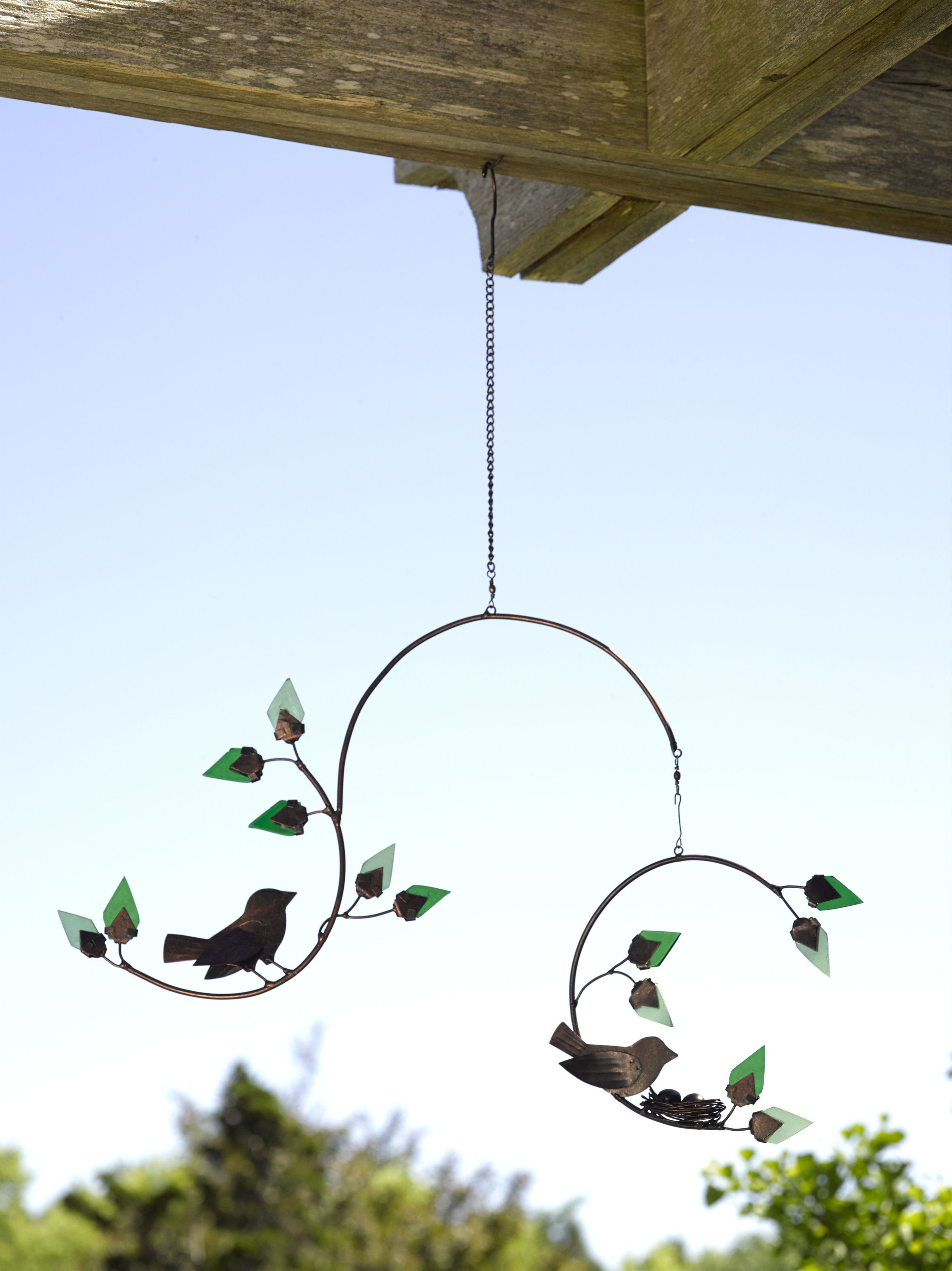 Nesting Bird Mobile with an Aged Copper Finish | Gardeners.com