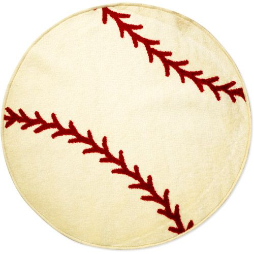 Baseball Rug from Walmart even! | Baseball bathroom ...