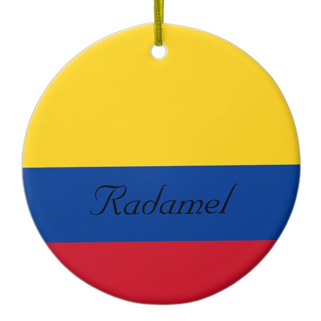 Custom Flag Of Colombia Yellow Blue Red Ceramic Ornament Custom Flags Ceramic Ornaments Colombia Flag