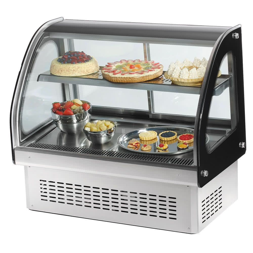 Vollrath 40842 36 Curved Glass Drop In Refrigerated Countertop Display Cabinet
