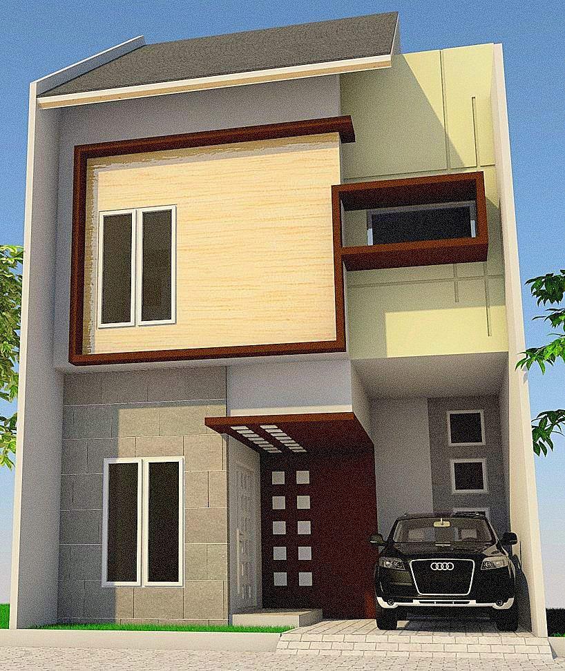 Gambar tampak depan dari desain rumah minimalis di daerah