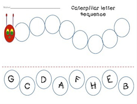 The Very Hungry Caterpillar Sequencing Worksheets | kids | Pinterest