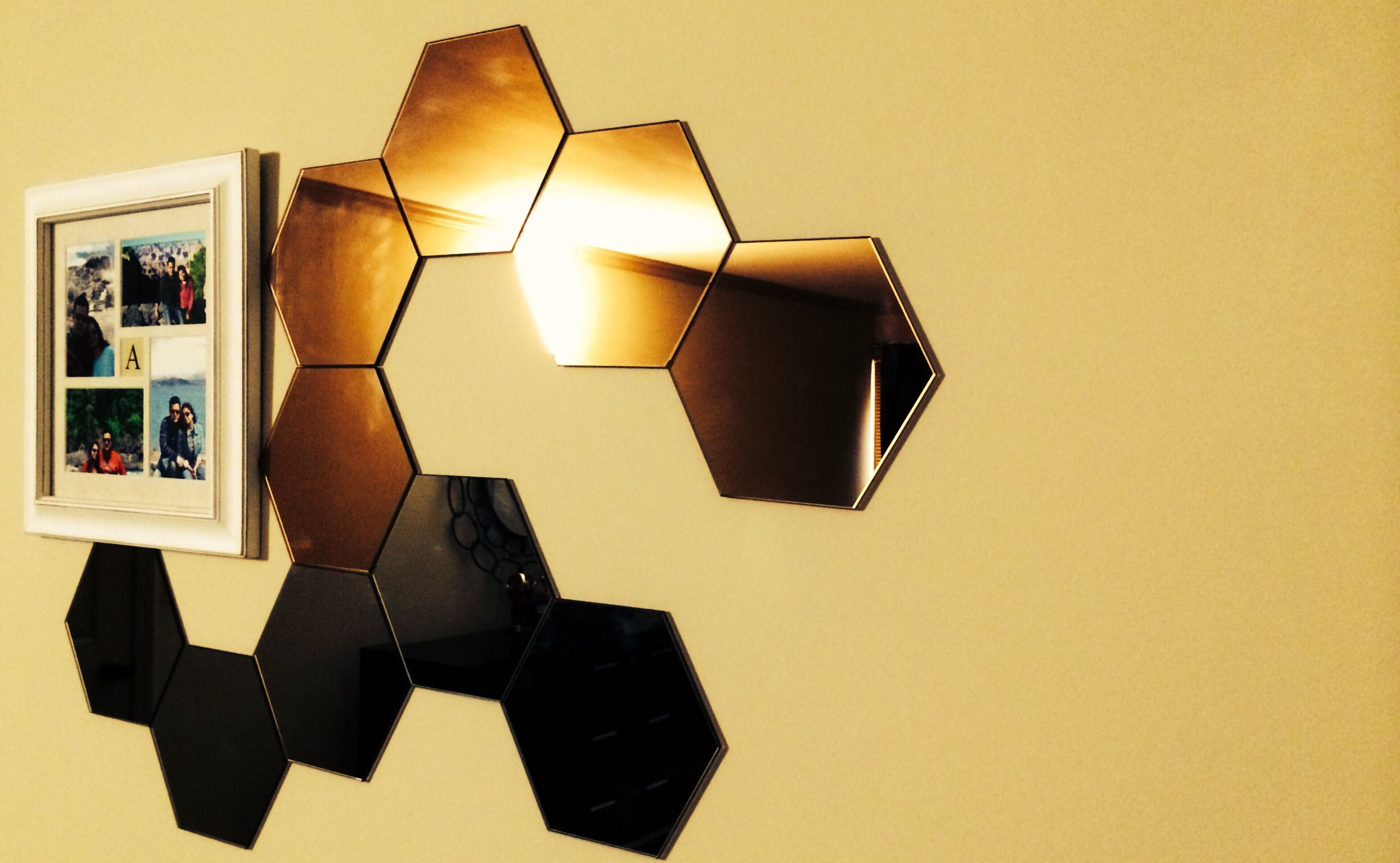 Ikea honefoss mirror with a photo frame | Home | Pinterest | House