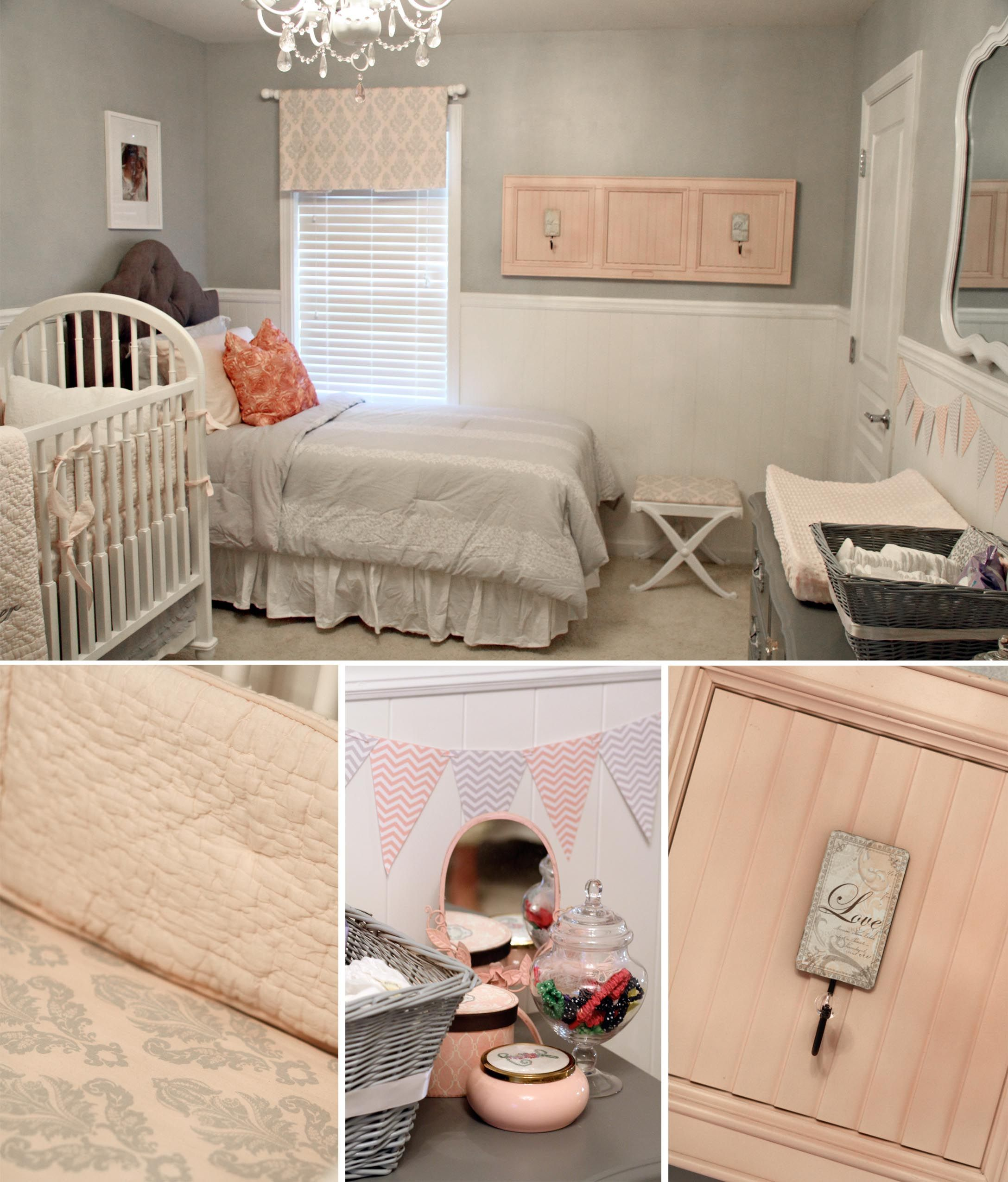 Nursery Layout Twin Bed By Window Crib By Bed Dresser