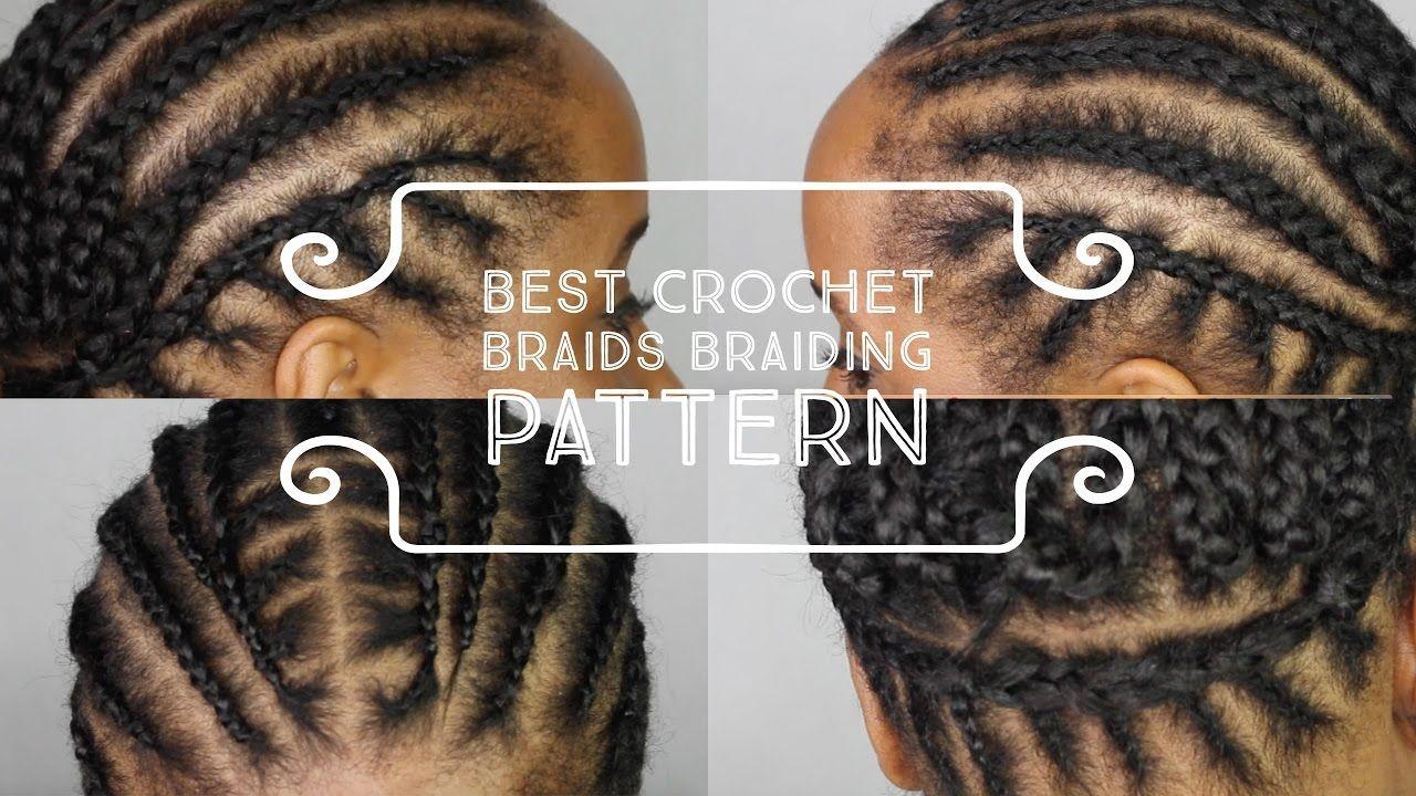 BEST cornrow braiding pattern to get your crochet box braids, twists ...