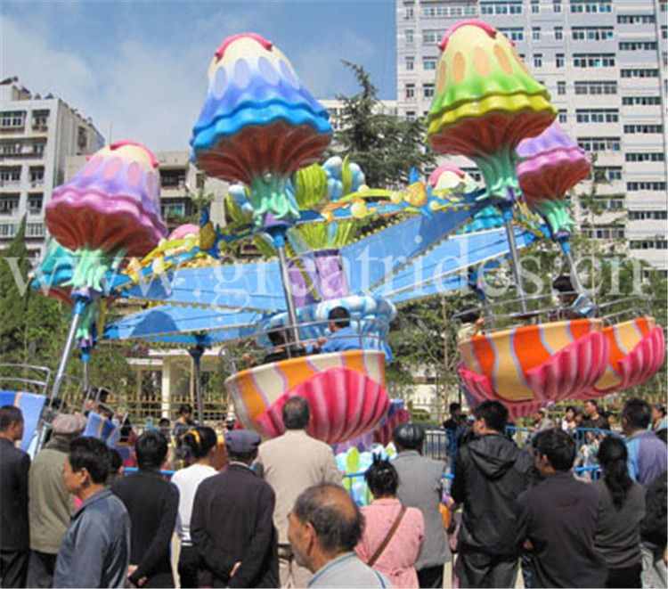 Amusement Park Family Rides Jellyfish Ride For Sale Email
