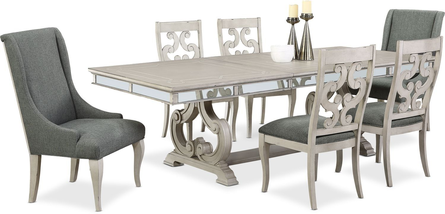 Athena Dining Table With 4 Side Chairs And 2 Host Chairs Value