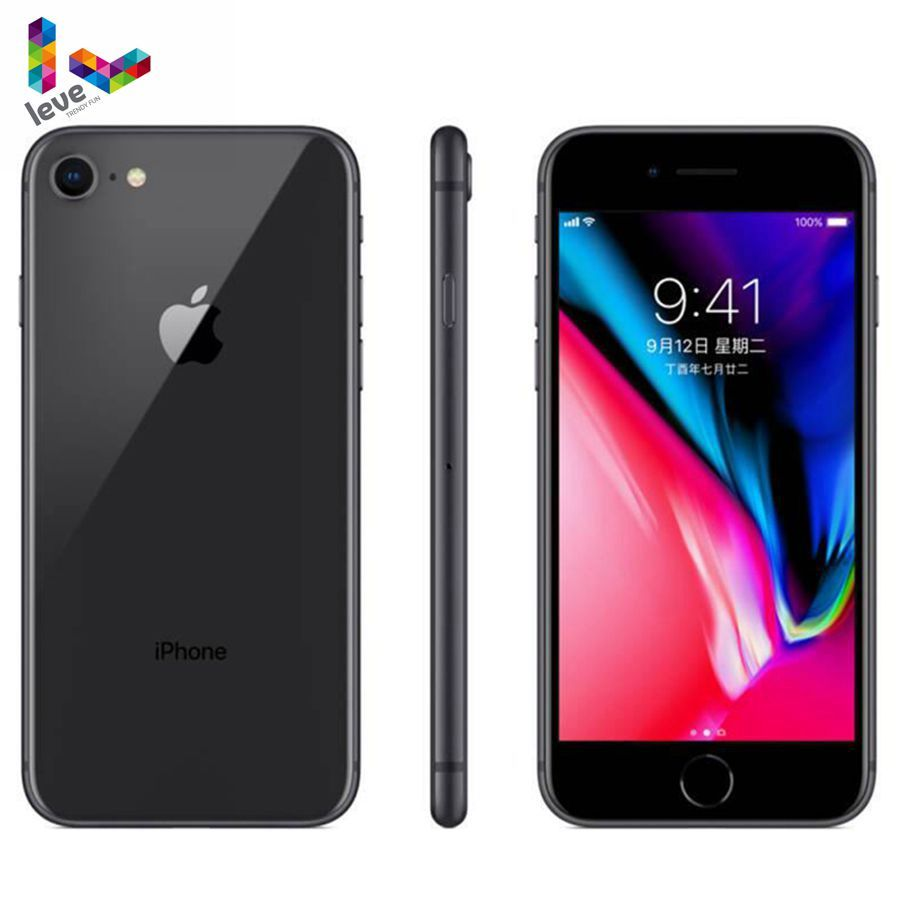 Apple Iphone 8 4 7 4g Lte 2gb Ram 64gb 256gb Rom Wireless Charge Hexa Core 12mp Touch Id Ios Iphone Samsung Teknologi
