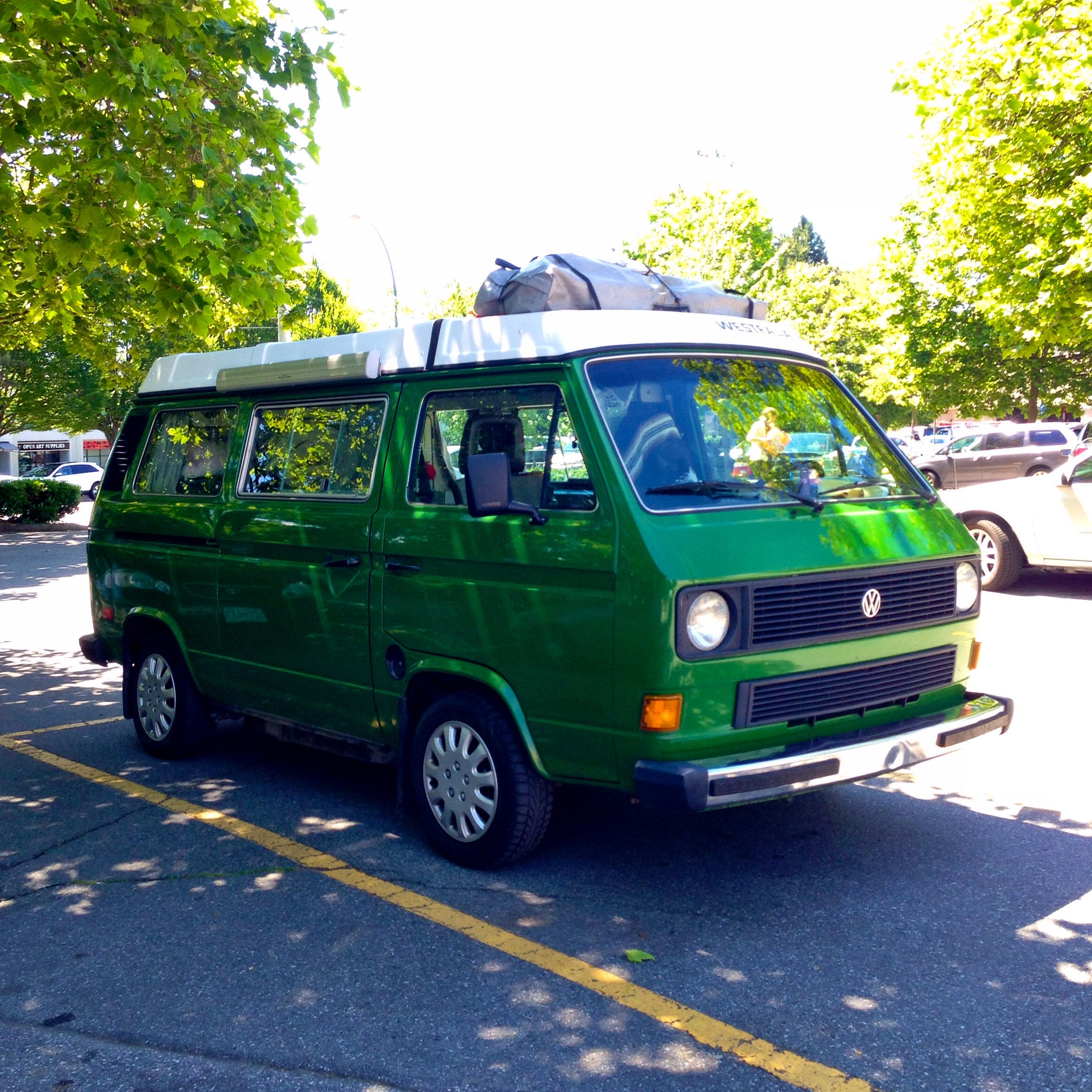 A Very Rare Vw Vanagon Spotted At Capilano Mall Green Is Rare
