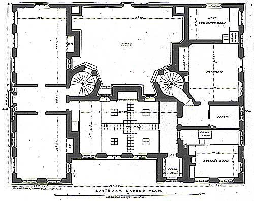 The Servant S Quarters In 19th Century Country Houses Like Downton Abbey English Manor Houses English Country House Plans House Map