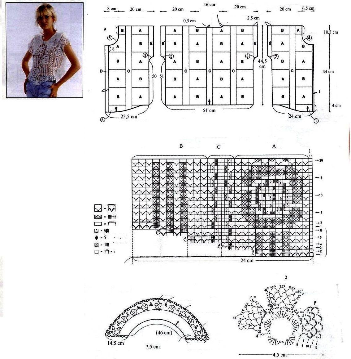 f0e5867229a bluzka szydełkowa crochet blouse kukičanje bluza háčkování halenka haklet  bluse blouse crochet crochet blusa gehaakte blouse