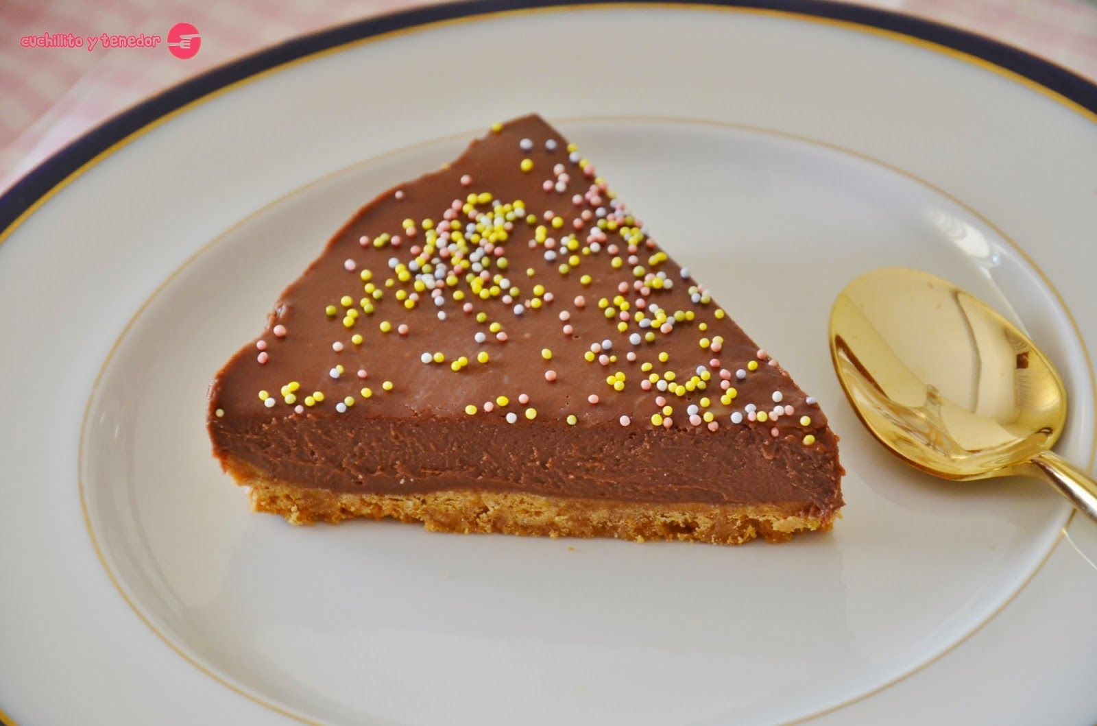 Tarta helada de chocolate. | Cuchillito y Tenedor