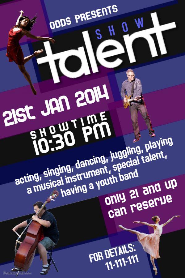Event Flyer Template Talent Show Talent Show Event Flyer