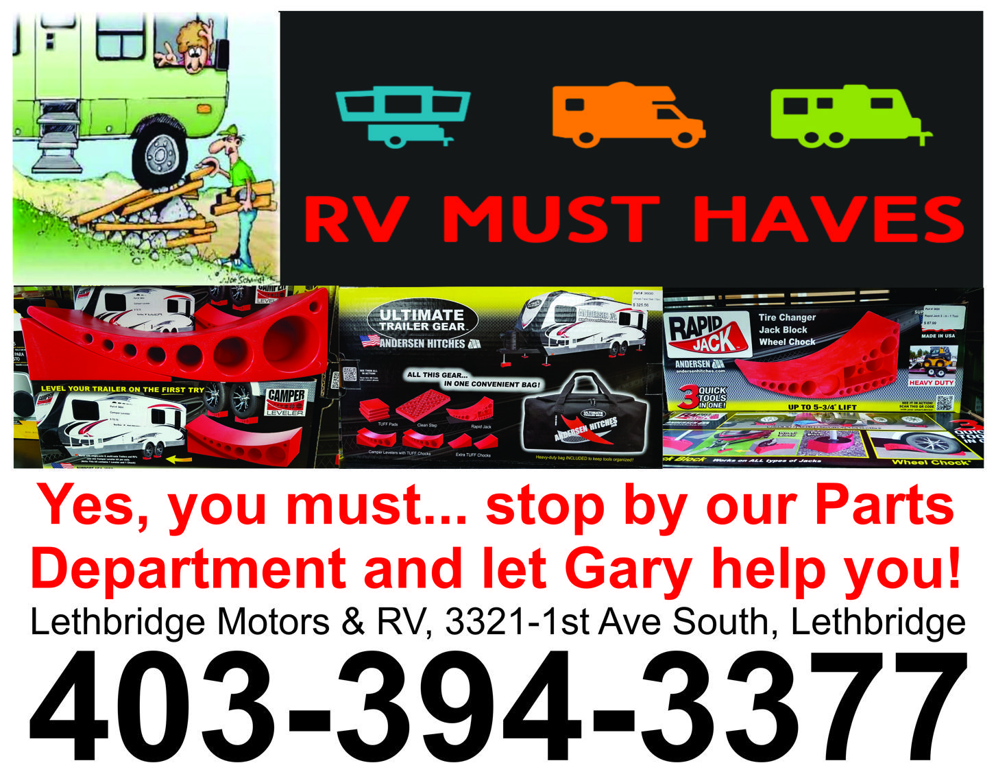 For an rv part to part discussion request query or