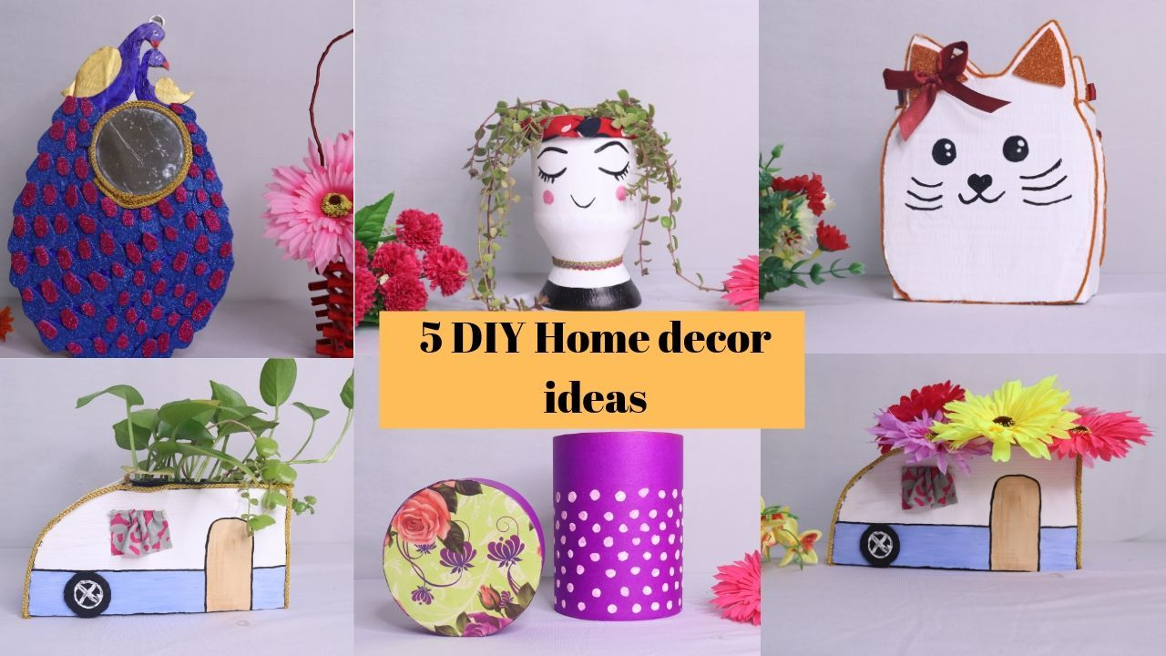5 Beautiful Easy Ideas For Your Home Decoration Home Decor By Aloha Crafts Easy Crafts Recycled Crafts Kids Easy Crafts For Kids