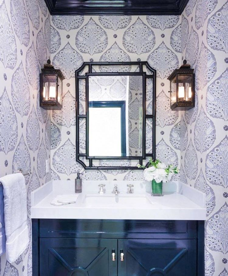 Galbraith & Paul Little Lotus wallpaper Bathroom