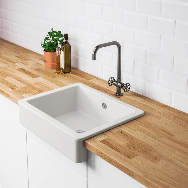 Havsen Zlew Z Widocznym Frontem Bialy Dodaj Do Listy Zakupow Ikea Sink Ikea Sinks Ceramic Kitchen Sinks