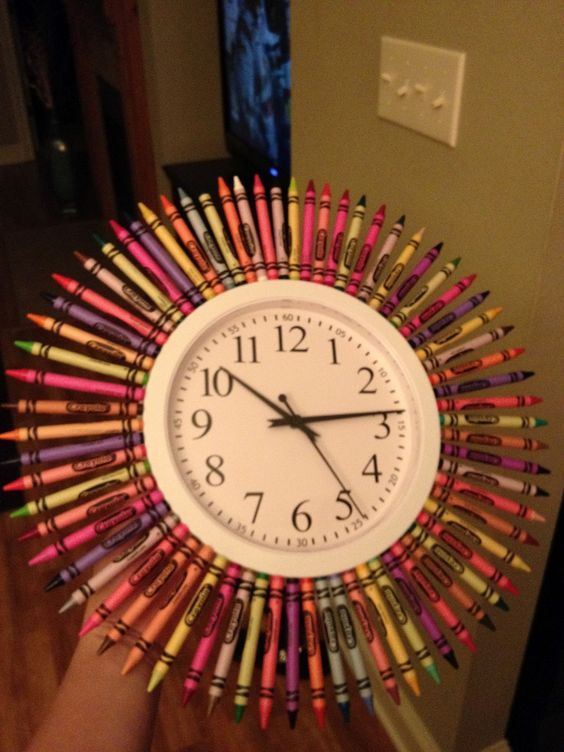 Broken Link But I Love This Diy Crayon Clock For The